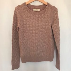 Loft Pink Sparkly Sweater